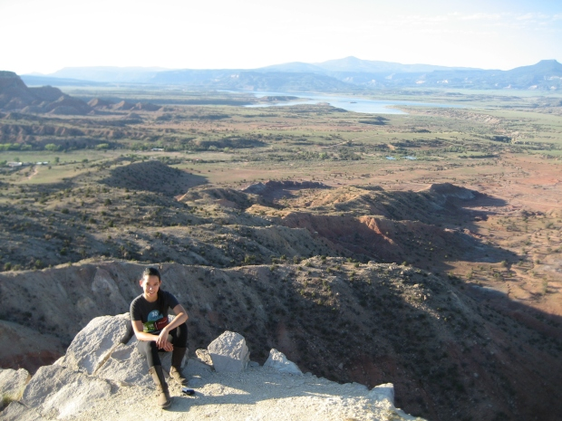 View from the top of Chimney Rock, overlooking the area surrounding Ghost Ranch